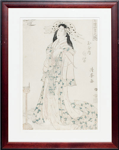 Courtesan by Kiyomine(Japanese Print)