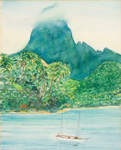 Capt. Cook Bay, Moorea(Polynesian Painting/Drawing)