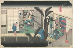 Akasaka on the Tokaido Road by Hiroshige