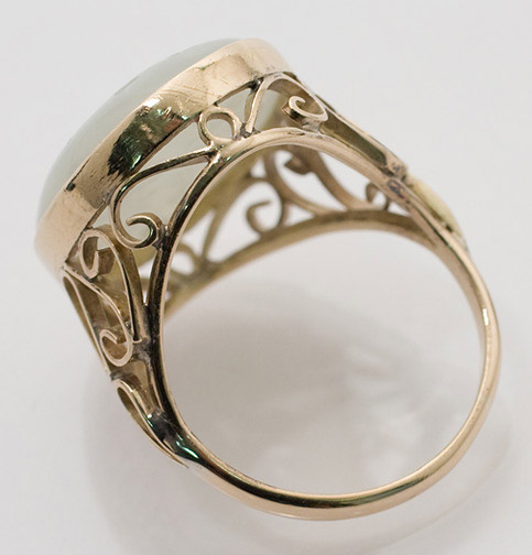 Carved White Jade Ring(Chinese Jewelry)