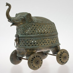 Bronze Rajastani Elephant on Wheels