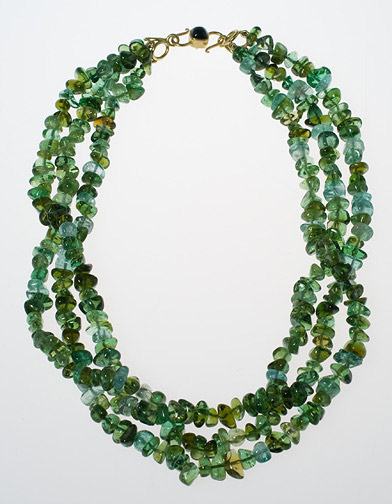 3-Strand Tourmaline Necklace by Tomi(American Jewelry)