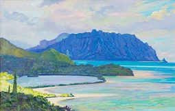 Overlooking He'eia Fishpond by Dennis Morton