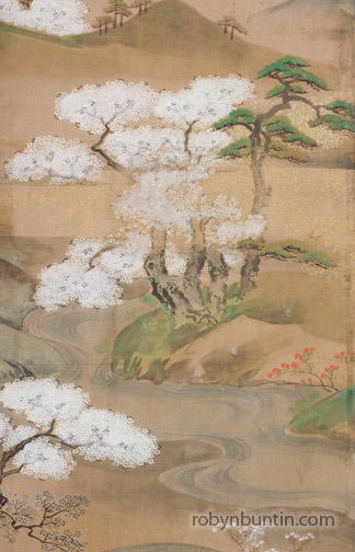 Courtiers At A Picnic(Japanese Screen)