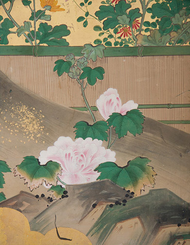 6-Panel Floral Screen(Japanese Screen)