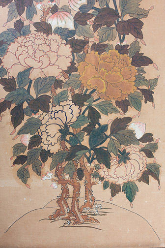 Pair of Korean Floral Scenes(Korean Painting/Drawing)