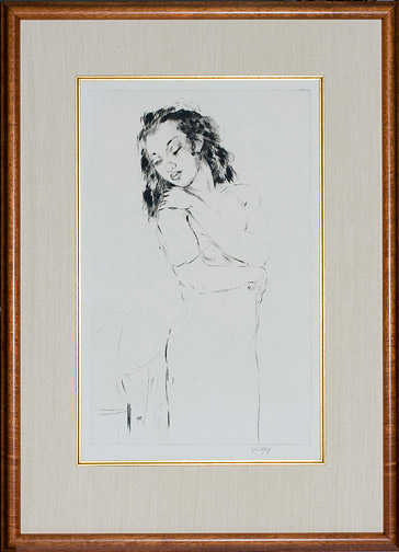 Young Woman by John Kelly(Hawaiian Print)