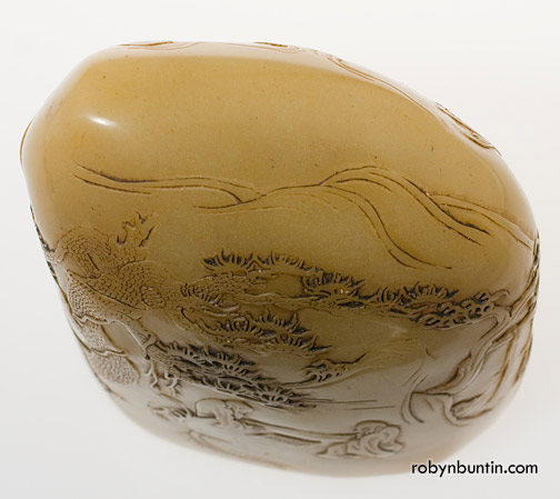 Large Uncarved Chinese Seal(Chinese Scholar's Table)