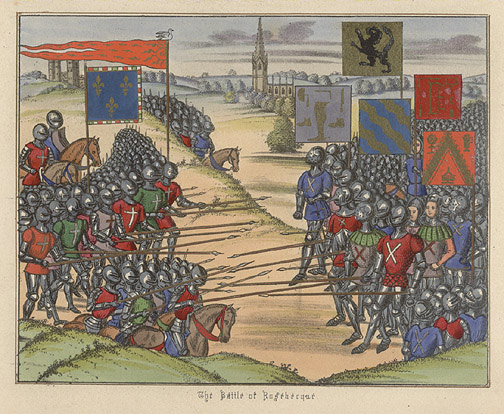 Manuscript Illumination: The Battle of Rosebecque(European Print)