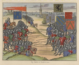 Manuscript Illumination: The Battle of Rosebecque