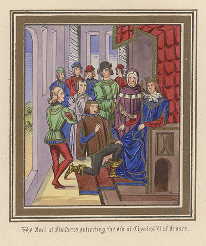 Manuscript Illumination: Earl of Flanders(European Print)