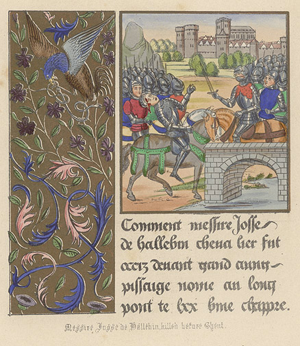 Manuscript Illumination: Death of Josse deHallebin(European Print)