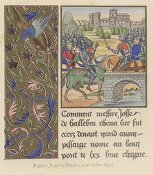 Manuscript Illumination: Death of Josse deHallebin