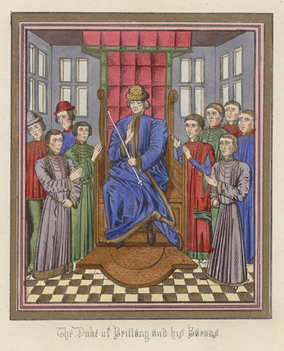 Manuscript Illumination: Duke of Brittany(European Print)