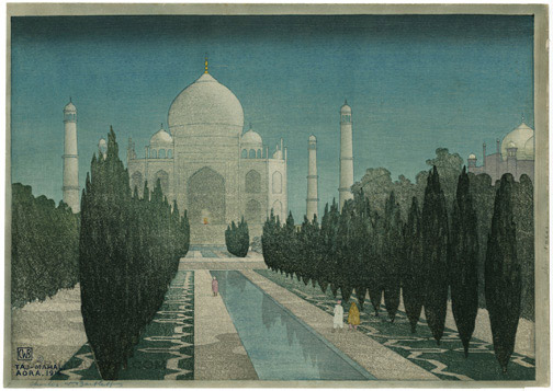 Taj-Mahal, Agra, 1916 by Charles W. Bartlett(Indian Print)