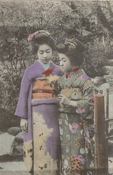 Postcard of Two Young Girls