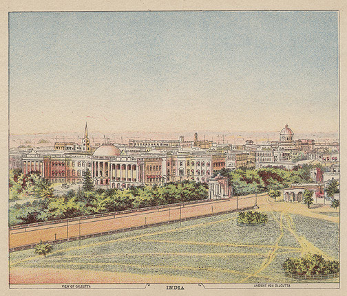 View of Calcutta India(Indian Print)