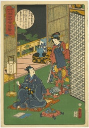 A Modern Pictorial Version of the Buddha's Eight-fold Path by Utagawa Kunisada II