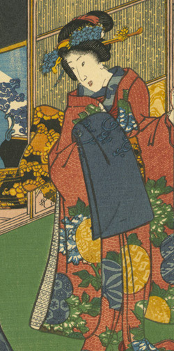 A Modern Pictorial Version of the Buddha's Eight-fold Path by Utagawa Kunisada II(Japanese Print)