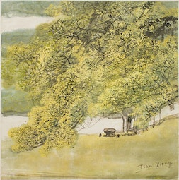 Pavilion In Spring by Cai Tian-Xiong 蔡天雄