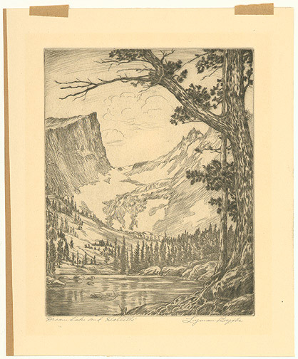 Dream Lake and Hallet's by Lyman Byxbe(American Print)