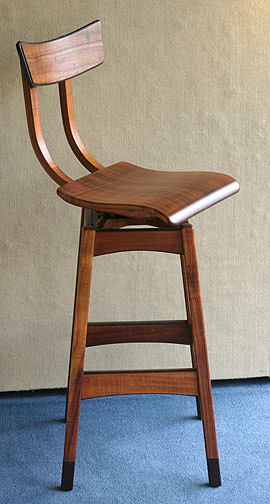 Pair of Koa High Stools by Joel Bright(Hawaiian Furniture)