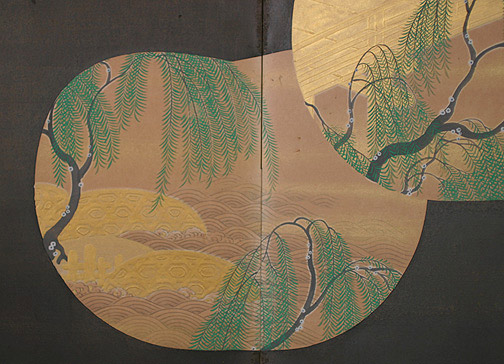 Weeping Willows(Japanese Screen)