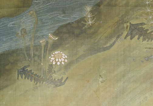 Sparrows & Stream(Japanese Screen)