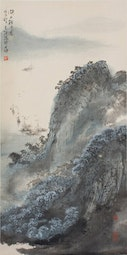 Boats in the Distance by Cai Tian-Xiong 蔡天雄