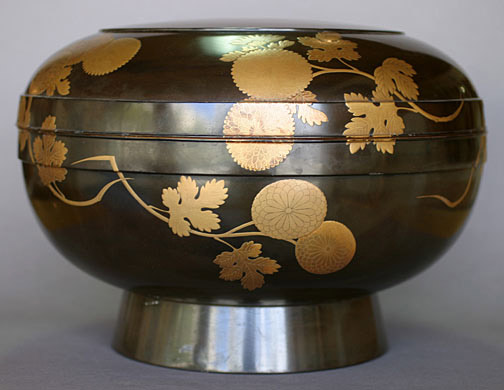 Round Lacquer Box(Japanese Lacquer)
