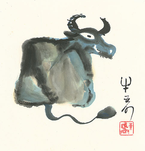 The Year of the Ox by H. H. Wong 黃可鏗(Chinese Painting/Drawing)