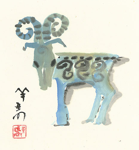 The Year of the Ram by H. H. Wong 黃可鏗(Chinese Painting/Drawing)