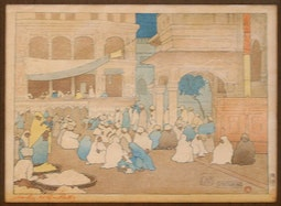 Amritsar 1916 by Charles W. Bartlett