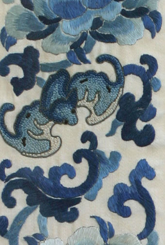 Embroidered Silk Robe Sleeves(Chinese Textile)