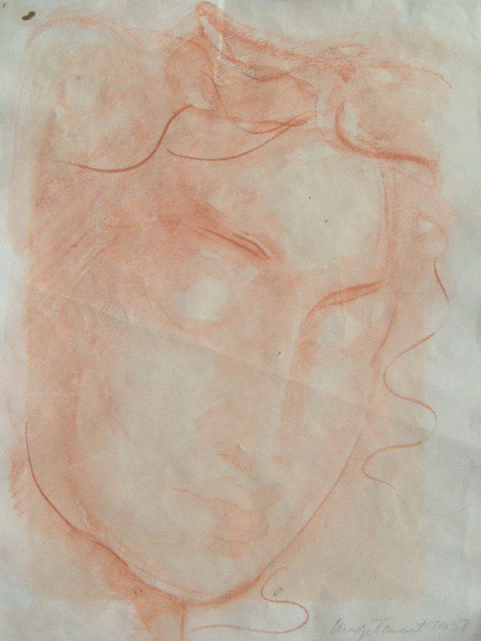 Face of a Woman by Madge Tennent(Hawaiian Painting/Drawing)