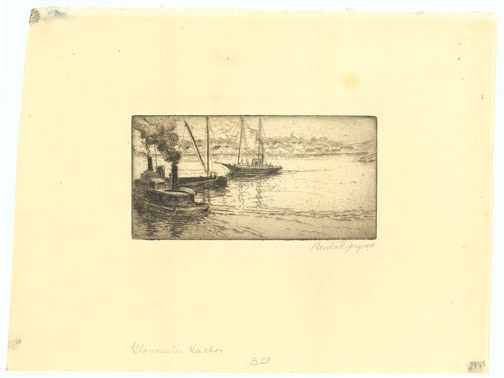 Gloucester Harbor by Bertha E. Jaques(American Print)