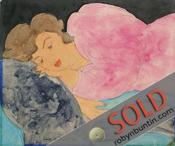 Woman Reclining by Madge Tennent
