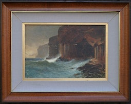 Landscape of Sea and Cliffs