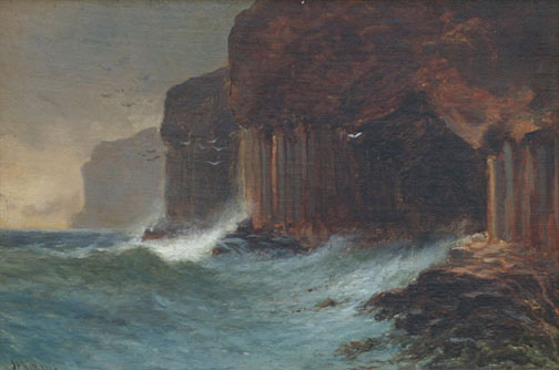 Landscape of Sea and Cliffs(European Painting/Drawing)
