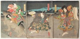 Kabuki Scene with Giant Rat by Utagawa Kunisada