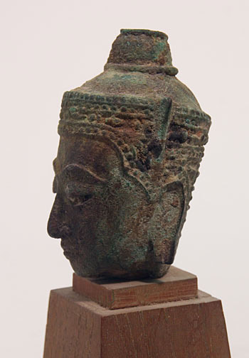 Bronze Buddha Head(Southeast Asian Sculpture)