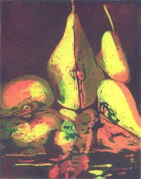 Two and a Half Pears by Carolyn Witschonke