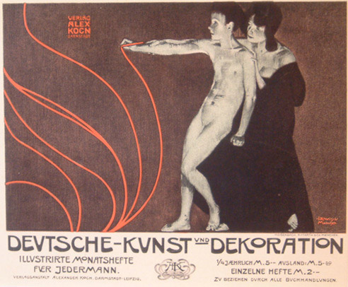 Deutsche Kunst Und Dekoration - German Art Nouveau(European Print)