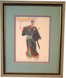 French Magazine Illustration of a Japanese Man