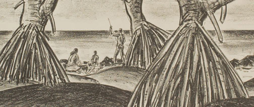 Spear Fishing by Alexander Samuel Macleod(Hawaiian Print)