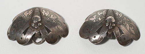 Pair of Silver Clips (Southeast Asian Functional Object)