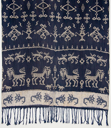 Indonesian Hinggi - Lions(Southeast Asian Textile)