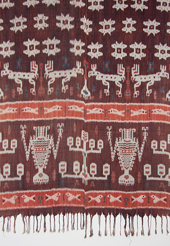 Indonesian Hinggi - Creatures(Southeast Asian Textile)