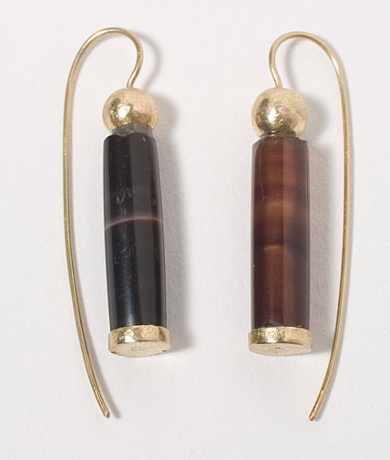 Ancient Khmer Agate Earrings(Southeast Asian Jewelry)