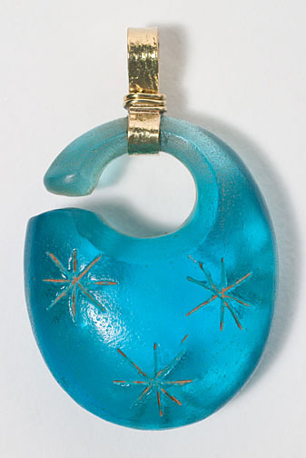 Blue Glass Pendant(Southeast Asian Jewelry)